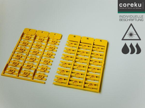 Kabelkennzeichnung KNC 4,0x23-2,0 gelb mit individueller Beschriftung