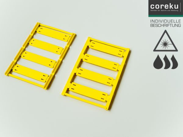 Kabelkennzeichnung UC-WMTB (44X15) Gelb mit individueller Beschriftung