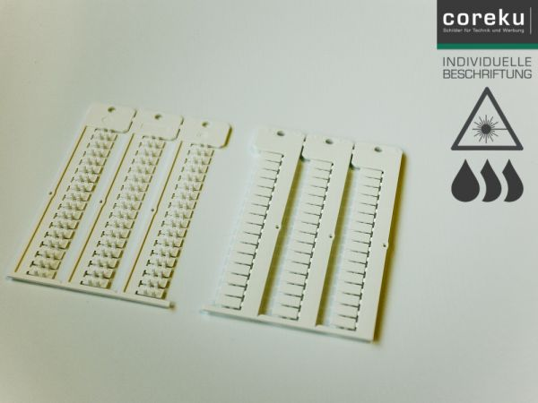 Kabelkennzeichnung KNQ 5,5x12-4,2 weiß mit individueller Beschriftung
