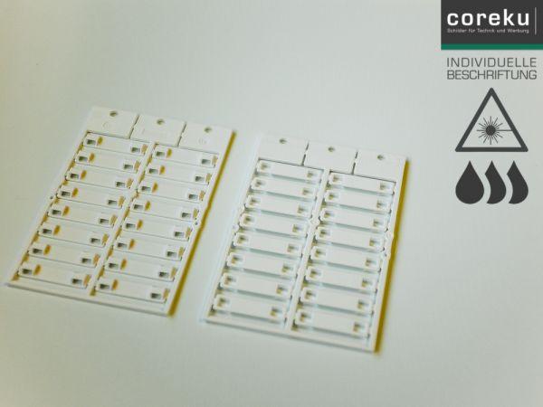 Kabelkennzeichnung KSM 35x8 Weiß mit individueller Beschriftung