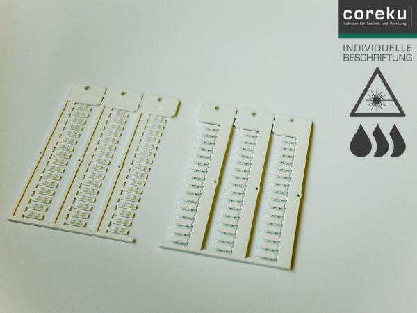 Kabelkennzeichnung KNQ 3,8x12-2,0 weiß mit individueller Beschriftung