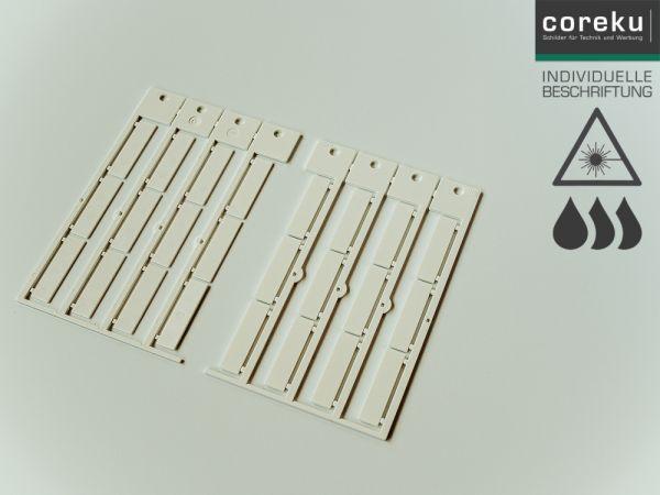 Kabelkennzeichnung KSO 35x9 mit individueller Beschriftung