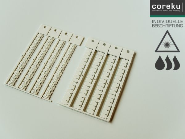 Klemmenkennzeichnung KWI 6x10 mit individueller Beschriftung