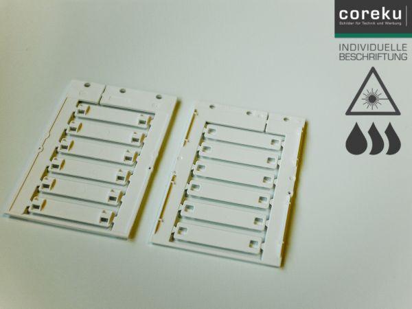 Kabelkennzeichnung KSM 55x12 Weiß mit individueller Beschriftung