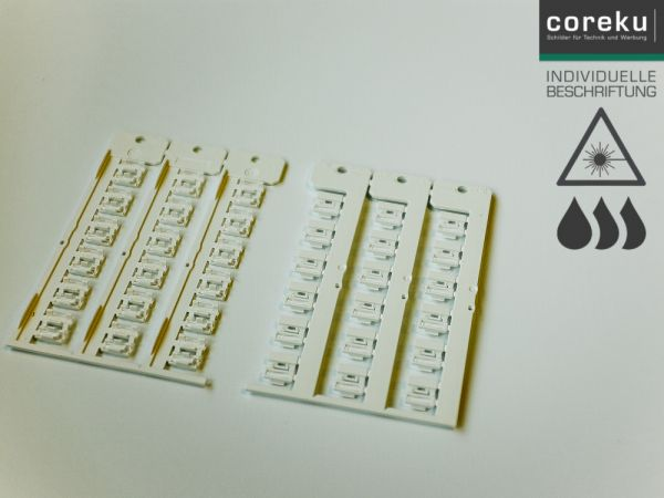 Kabelkennzeichnung KNC 4,0x12-2,0 weiß mit individueller Beschriftung