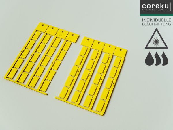Kabelkennzeichnung KSO 20x9 Gelb mit individueller Beschriftung