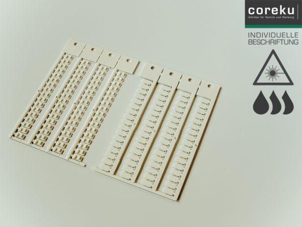 Klemmenkennzeichnung KSI 5x10 mit individueller Beschriftung