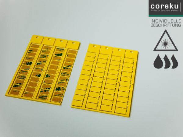 Gerätekennzeichnung KSK 15x9 gelb mit individueller Beschriftung