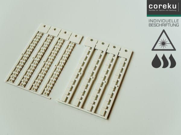 Gerätekennzeichnung WGO 12x7 mit individueller Beschriftung
